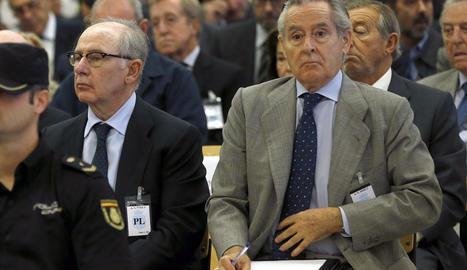 Rodrigo Rato i Miguel Blesa, durant el judici.