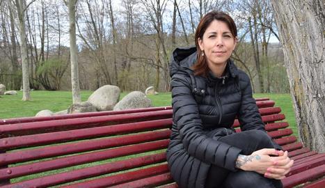 Anna González, veïna de la Seu, impulsora de la campanya.