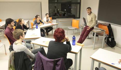 Jordi Forcadas va obrir ahir el nou seminari teatral de la UdL.