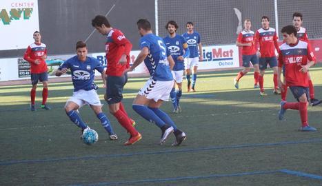 Asier, en el partit davant del Rapitenca que va jugar sancionat.