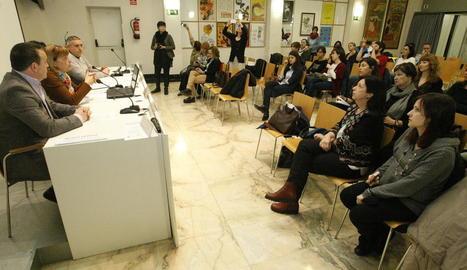Un moment del seminari d'ahir celebrat a la sala Alfred Perenya de l'Imac.