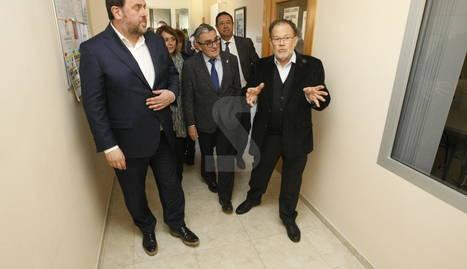 Oriol Junqueras, aquest dimecres a les instal·lacions de La Torxa a la Caparrella.