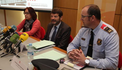 La roda de premsa del cap dels Mossos d'Esquadra, Albert Batlle, aquest dijous a Lleida.