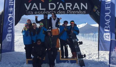 Quatre medalles en snowboard per al CAEI a Baqueira-Beret