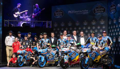 L'estructura completa del Team Estrella Galicia 0,0, que competirà en les tres cilindrades del Mundial, així com al Campionat d'Espanya de velocitat.