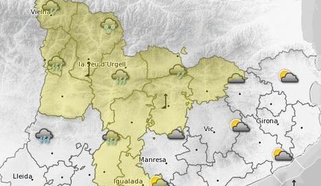 Alerta per nevades a partir dels 600 metres a la Segarra i el Solsonès