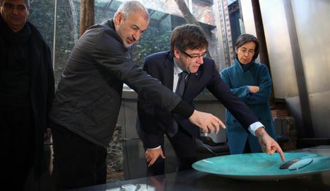 Puigdemont va visitar ahir el despatx RCR Arquitectes d'Olot, guanyador del 'Nobel d'arquitectura'.