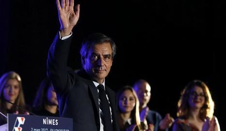 Fillon, durant un acte electoral celebrat dijous a Nimes.