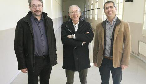 Tres dels investigadors de l'institut Indest.