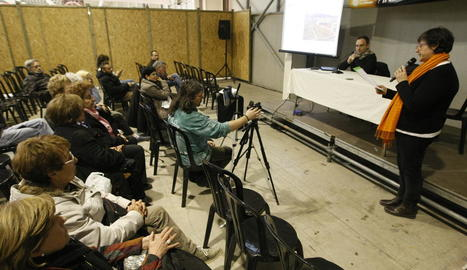 Imatge d'una de les conferències d'ahir a Fira Natura.