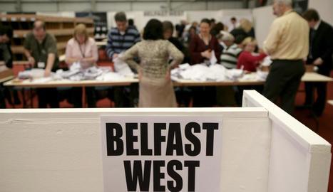 Imatge del recompte després de les eleccions a Irlanda.
