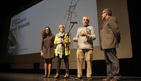 Jordi Amorós va rebre ahir el Premi a la Trajectòria.