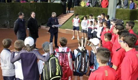 La selecció de tenis, a l'RCT Barcelona