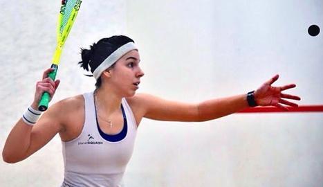 Marta Latorre, durant un entrenament.