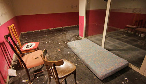 Imatges de l'estat de la segona planta del pàrquing de la Llotja de Lleida