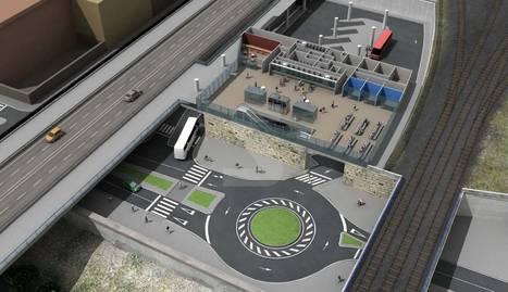 Imatge virtual del projecte de la nova estació d'autobusos de Lleida, que es va redactar el 2012.