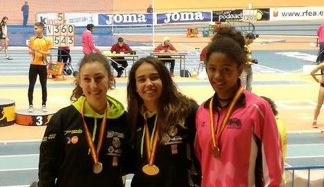 Lydia Ayuste, del Lleida UA, bronze a l'Estatal júnior indoor