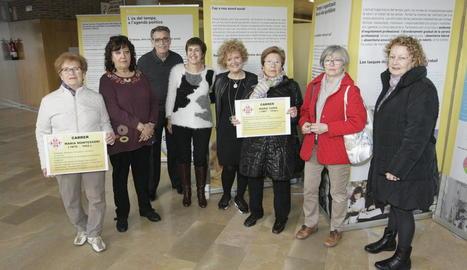 El Centre Cívic de Balàfia va inaugurar ahir l'exposició 'Quin temps tenim'.