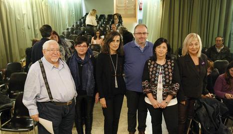Els ponents de la taula redona que va acollir dimarts l'Ateneu.