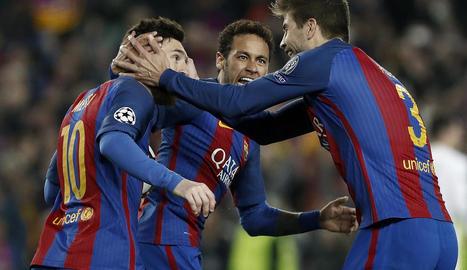 Sergi Roberto va passar ahir a la història a l'anotar el sisè gol que permetia al Barça firmar la golejada més gran de la història i que posava l'equip a quarts de final.