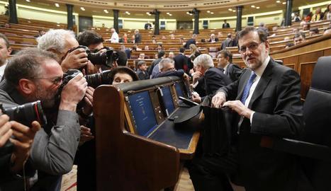 Mariano Rajoy ahir al ple del Congrés.