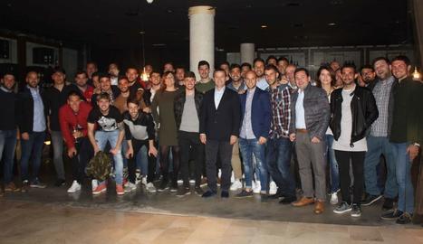 Jugadors, tècnics i directius del Lleida van compartir un sopar dimecres passat.