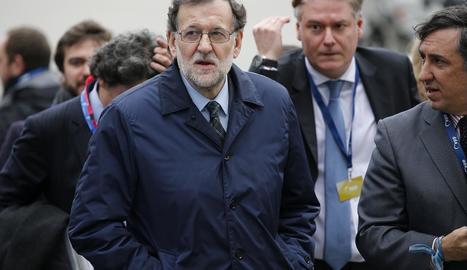 El president del Govern, Mariano Rajoy, ahir a Brussel·les.