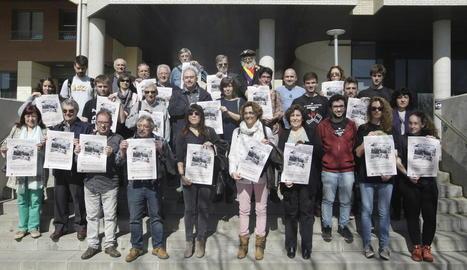 Representants de les entitats convocants van presentar ahir la manifestació del dia 18.