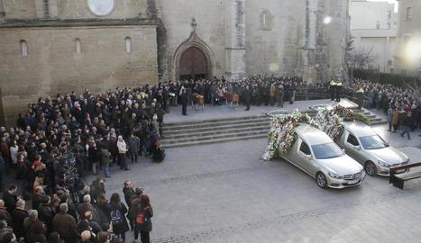 Imatge del funeral dels dos rurals el gener passat.