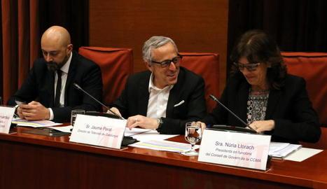 Gordillo, Peral i Llorach, ahir a la comissió de control a la CCMA.