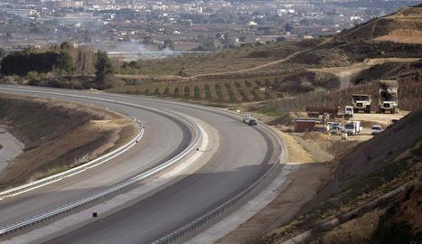 Les obres al tram de Lleida a Rosselló pendents de l'últim asfaltatge i que es preveu obrir al maig.