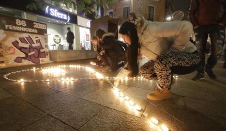 Acte contra la violència masclista el novembre passat a Lleida.