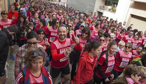 Gairebé 1.500 corredors van començar la cursa des de la canalització del riu Segre.