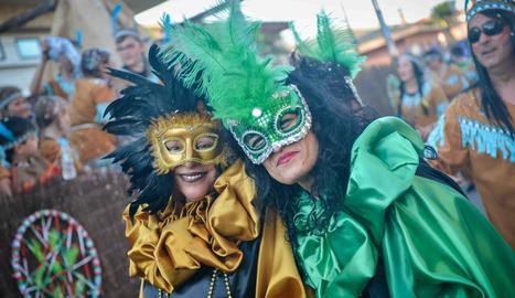 Una de les comparses del Carnaval de la Granja d'Escarp.