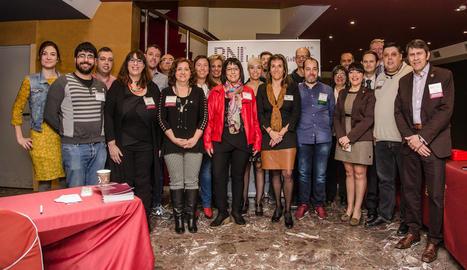 Un moment de la trobada celebrada la setmana passada a l'hotel Senator de Lleida.