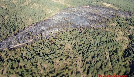 Un incendi a Montferrer i Castellbó el passat mes de setembre.
