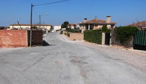 El carrer Carrerada en el qual es renovarà el paviment.
