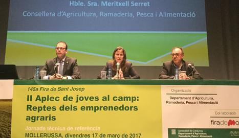 La inauguració del II Aplec de joves del camp: reptes dels emprenedors agraris a Mollerussa