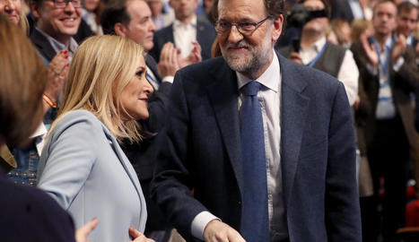 La presidenta de Madrid, Cristina Cifuentes, ahir amb el president del Govern, Mariano Rajoy.