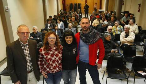 Els participants en el debat d'ahir a les Borges Blanques.