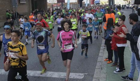 La tercera edició de la Cursa SED de Lleida va superar per primera vegada el miler de participants.
