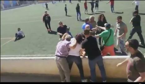 Batalla campal entre pares en un partit d'infantils a Mallorca