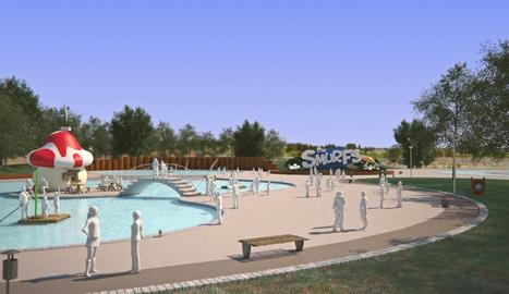 Recreació virtual del parc dedicat als Barrufets que havia d'acollir les Basses.