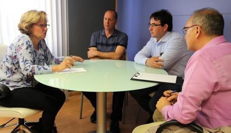 La reunió de Godia amb els representants dels pescadors.