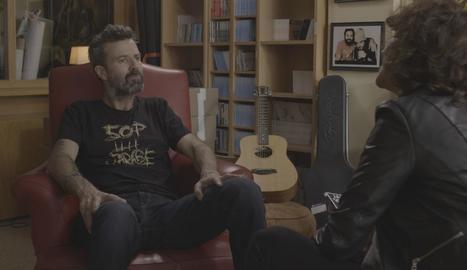 Pau Donés, en un moment de l'entrevista amb Agnès Marquès.