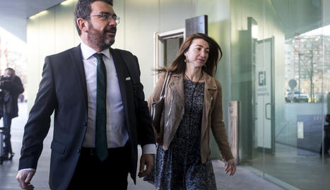 L'advocat de CDC, Francesc Sánchez, ahir als jutjats.