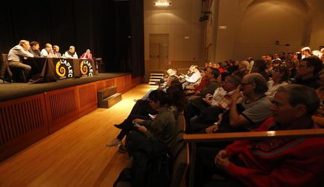 Un moment de l'assemblea de la Fecoll celebrada ahir.