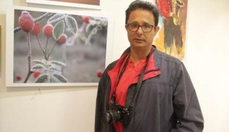 Quim Estadella mostra una selecció de les seves fotos.
