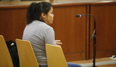 L'acusada, ahir, en un moment del judici.