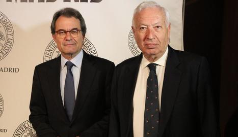 L'exministre Margallo va compartir dimarts una conferència amb Artur Mas.